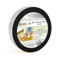 Two-sided adhesive tape on foamed base
